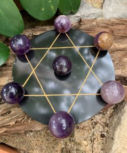 Star of David Grid with Spheres